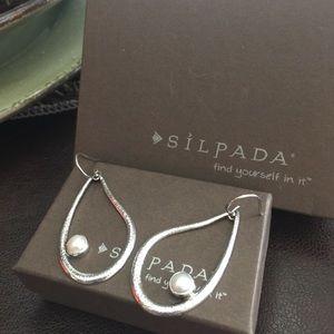SILPADA Retired Drop Artesian SS earrings